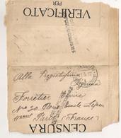 1917 POSTA MILITARE TRUPPE D'OCCUPAZIONE 1 /  ALBANIA A PARIS / CENSURE C1132 - Albanie