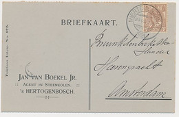 Firma Briefkaart S Hertogenbosch 1921 - Agent In Steenkolen - Non Classés