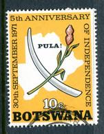 Botswana 1971 Fifth Anniversary Of Independence - 10c Value Used (SG 283) - Botswana (1966-...)