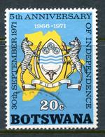Botswana 1971 Fifth Anniversary Of Independence - 20c Value Used (SG 284) - Botswana (1966-...)