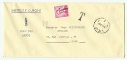 Enveloppe De LIEGE Le 9-11-1961 Taxé à 6Fr. Avec Tp Baudouin Lunette Annulé Par La Griffe T. - 16299 - Lettere