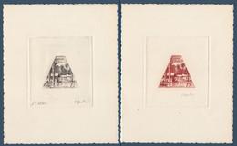 MONACO - N° 414 - ALBERT SCHWEITZER - HOPITAL DE LAMBARENE - 2 EPREUVES D'ARTISTE Signees GANDON. - Gabón (1960-...)