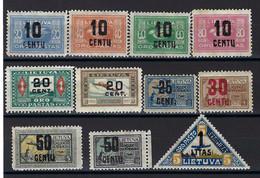 ⭐ Lituanie - Poste Aérienne - YT N° 21 à 31 * - Neuf Avec Charnière - N° 26 Signé Romeko - 1922 ⭐ - Lithuania