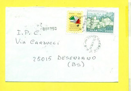 STORIA POSTALE ITALIA - 1991-00 - RACCOMANDATE-REGISTERED COVER-RACCOMANDATA- - 6. 1946-.. Republik