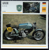 Collection Fiches ATLAS - MOTO - ADLER M250 RS - 1955 - Other