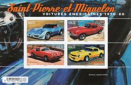 St. Pierre & Miquelon 2020 American Cars SS MNH - Automobili