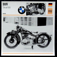 Collection Fiches ATLAS - MOTO - BMW 734 Cm3 R 16 - 1932 - Other
