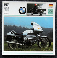 Collection Fiches ATLAS - MOTO - BMW R 100 RS 1000 Cm3 - 1976 - Other