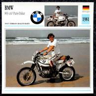 Collection Fiches ATLAS - MOTO - BMW 800 Cm3 PARIS-DAKAR - Hubert ORIOL - 1981 - Other