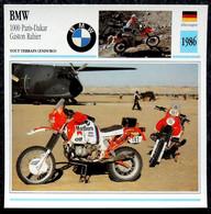 Collection Fiches ATLAS - MOTO - BMW 1000 PARIS-DAKAR - Gaston RAHIER - 1986 - Other