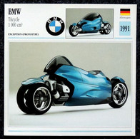 Collection Fiches ATLAS - MOTO - BMW Tricycle 1000 Cm3 - 1991 - Other