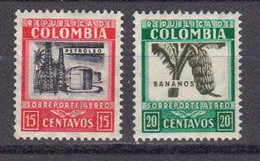 Colombie 1939 Poste Aerienne Yvert 126 / 127 ** Neufs Avec Charniere. - Colombia
