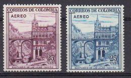 Colombie 1958 Poste Aerienne. Yvert 305 / 306 * Neufs Avec Charniere - Colombia