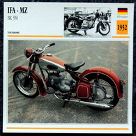 Collection Fiches ATLAS - MOTO - IFA MZ - BK 350 - 1952 - Other