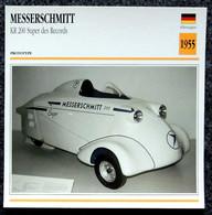 Collection Fiches ATLAS - MOTO - MESSERSCHMITT - KR 200 Super Des Records - 1955 - Other