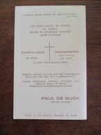 Priester Gezalfd  1954  PAUL  DE  BUCK  Witte Pater - Mededelingen