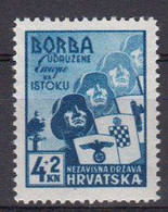 Croatie 1941 Yvert 49 ** Neuf Sans Charniere Pour La Legion Des Volontaire De L'Est - Kroatien