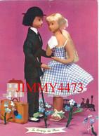 CPM - Les Poupées De PEYNET En 1962 - Le Langage Des Fleurs - Myosotis : Ne M'oubliez Pas - N° 37 - Ed. D'Art YVON Paris - Peynet