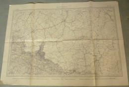 Carte Du S.G.A. : MEZIERES / BELGIQUE / LUXEMBOURG - 1/320 000ème - 1854. - Mapas Topográficas