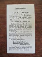 Herinnering  H. Missie  Op Aanvraag Van Z . E . H .  BOGAERTS Pastoor In  Ste .  MARIABURG - Mededelingen