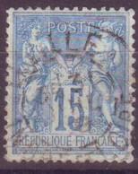 Luzillé Indre Et Loire (37) Oblitération Type A1 Sur Sage - 1877-1920: Semi-Moderne