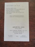 Priester  Gewijd     Heverlee ---BRUGGE1954  GéRARD  DE SOETE - Mededelingen