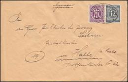 15 AM-Post Englischer Druck Mit 920 Kontrollrat Als MiF Brief Bahnpost 5.6.1946 - American/British Zone