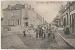 Le Creusot  71  La Route De Torcy  Tres Tres Animée -Epicerie Et Café - Le Creusot