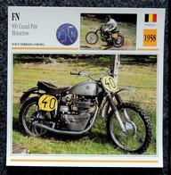 Collection Fiches ATLAS - MOTO - FN 500 Grand Prix Motocross - 1958 - Autres