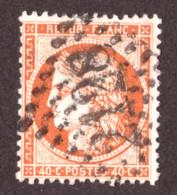 Cérès N° 38 Orange Foncé Vif - Oblitération GC 2128 Lure (Hte Saône) - 1870 Beleg Van Parijs