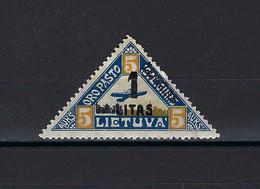 ⭐ Lituanie - Poste Aérienne - YT N° 31 * - Neuf Avec Charnière - 1922 ⭐ - Litauen