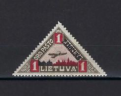 ⭐ Lituanie - Poste Aérienne - Variété ( Point Noir Au Haut Du Timbre ) - YT N° 18 * - Neuf Avec Charnière - 1922 ⭐ - Lithuania