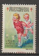 """FRANCE :  Timbre Antituberculeux 1933 ** -""""Deux Sous Pour La Santé - Comité National De Défense Contre La Tuberculose"""" - Tegen Tuberculose"""