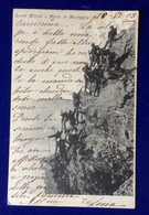 CARTOLINA MILITARE 4 REGGIMENTO ALPINI - PATTUGLIA IN PARETE  VIAGGIATA - Autogramme & Autographen