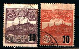 20907) SAN MARINO- Veduta Di San Marino, Soprastampati - 1941 - 2 VALORI USATI - Unused Stamps