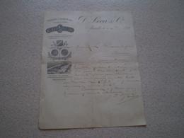 Gravure Médailles & Usine Savons Blancs De D. Leca & Cie à Marseille. 1888 - 1800 – 1899