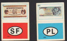 Stikers Targa Polonia Finlandia Banconota Grecia Danimarca License Plate Poland Finland Banknote Greece Denmark FAS00109 - Otros