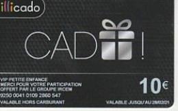 ILLICADO/  CADEAU BLANC    FOND NOIR    Petite Enfance  IRCEM    10E   2021 - Frankreich