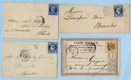 Lot De 4 Documents Période Classique Voir Scans - Other