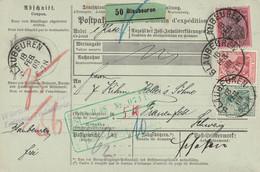 Allemagne Bulletin D'expédition Blaubeuren Pour La Suisse 1908 - Storia Postale