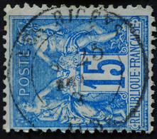 -Sage N°90 Type Ll.(CAD) O.LES RICEYS ( 09 ) - 1876-1898 Sage (Tipo II)