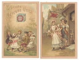 Calendrier 1897 Biscuits Lefevre Utile ( état ) - Calendari