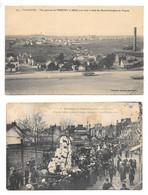 2 Cpa..st-nazaire..vue Générale De Penhoet Et Méan,hauts Fourneaux De Trignac-// Cavalcade De Méan-Penhoet,14 Avril 1907 - Saint Nazaire