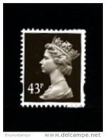 GREAT BRITAIN - 1998  MACHIN  43p.  WALSALL  PERF. 14  MINT NH  SG Y1717a - Série 'Machin'