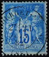-Sage N°90 Type Ll.(CAD) O.LE BOURGET-DU-LAC.( Rare ) 1882. - 1876-1898 Sage (Tipo II)