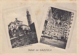 Emilia Romagna  - Piacenza - Gazzola - Saluti Da Gazzola - 2 Vedute - F. Grande - Viagg  - Molto Bella - Italy