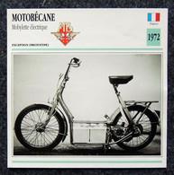 Collection Fiches ATLAS - MOTO - MOTOBÉCANE Mobylette électrique - 1972 - Andere