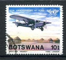 Botswana 1984 40th Anniversary Of International Civil Aviation Organization - 10t Value Used (SG 563) - Botswana (1966-...)