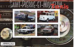 Saint-Pierre-et-Miquelon 2019 - Taxis - Chevrolet-Volkswagen T2-Pontiac-Dodge -  4v Bloc Neuf/Mint/MNH - Automobili