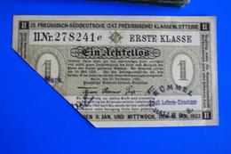 PREUSSISH-SUDDEUTSCHE(247.PR-) KLASSENLOTTERIE-ERSTE KLASSE☛TICKET BILLET LOTERIE  PRUSSO ALLEMAND - Lottery Tickets